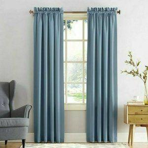 Sun Zero Vintage Blue Emory Room-Darkening Pair